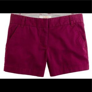 J.Crew Chino Shorts in Maroon / Purple Size 4